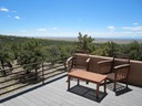 Crestone house upstairs deck valley view